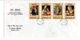 NOUVELLES HEBRIDES FDC 1978 NOEL LEGENDE ANGLAISE - PRIX FIXE - FDC