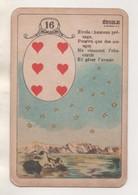 CARTE ANCIENNE A JOUER - SIX DE COEUR, ETOILE - VOIR LES SCANNERS - Cartes à Jouer Classiques