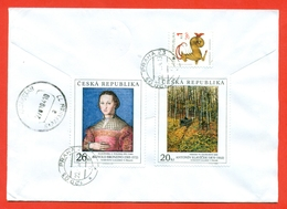 Czech Republik 2003. Painting. Registered  Envelope Is Really Past Mail. - Czech Republic
