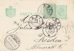 Rumänien: 1900: Lasi Nach Dresden - Romania