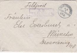 German Feldpost WW1: Bay. Infanterie Regiment 14 P/m 24.4.(1915) By KB 5. Infanterie Division - Letter Inside Signed Boi - Militaria