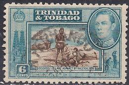 Trinidad & Tobago 1938 - 44 KGV1 6ct Discovery Lake Asphalt SG 250 ( G1400 ) - Trinidad & Tobago (...-1961)