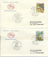 ITALIA - FDC  CAVALLINO 1996 - CIBI ITALIANI - VINO - ANNULLI SPECIALI ASTI - LUCCA - 6. 1946-.. Repubblica