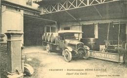 WW 52 CHAUMONT. Etablissements Lacaille. Départ D'un Camion De Livraisons - Chaumont