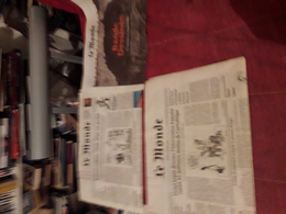 Lot 3 Journal Le Monde  A Thematique Bd   Angouleme Gaston - Books, Magazines, Comics