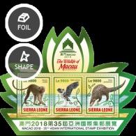 SIERRA LEONE 2018 Wildlife Of Macau - Sierra Leone (1961-...)