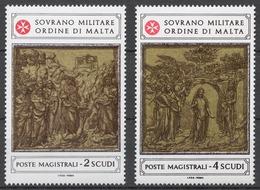 SMOM 1980 Sas# 180-81** TILES OF THE BAPTISTERY - Malte (Ordre De)