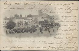 Maubourguet 65 - La Place .Course De Bicyclettes ( Rare ) 1903 Au Dos. - Maubourguet