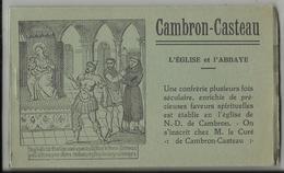 CAMBRON-CASTEAU - Carnet De 10 Cartes Postales L'Eglise Et L'Abbaye - Brugelette