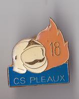 PIN'S THEME POMPIERS DE PLEAUX  DANS LE CANTAL - Pompiers