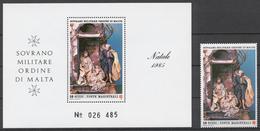 SMOM 1985 Sas# 243+ Bl.19** CHRISTMAS - Malte (Ordre De)