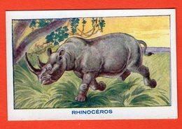 IMAGE SCOLAIRE - BON-POINT -  SIROP DESCHIENS - ANIMAUX - LE RHINOCÉROS - Vieux Papiers