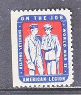 AMERICAL  LEGION  WW II  **   HELPING  VETS - United States