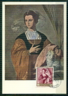 "CM-Carte Maximum Card-Tarjeta Maxima #1969-Espana,Spain,Spanien #Tableau,Gemälde,painting By  Alonso Cano "" Santa Inés"" - Cartes Maximum"