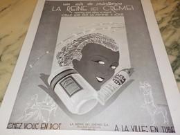 ANCIENNE PUBLICITE PARFUM LA REINE DES CREMES 1931 - Parfums & Beauté