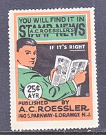 A.C.  ROESSLER  STAMP  ALBUM  * - United States