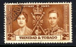 Trinidad & Tobago 1937 KGV1 2ct Yellow Brown Coronation SG 244 ( G1266 ) - Trinidad & Tobago (...-1961)