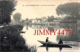 CPA - Les Rives De La Marne, Bien Animée - LAGNY POMPONNE 77 Seine Et Marne - N° 64 - Edit. Maréchal à Thorigny - Lagny Sur Marne