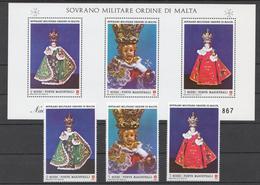 SMOM 1986 Sas# 257-59+ Bl.21** CHRISTMAS - Malte (Ordre De)