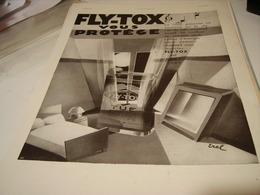 ANCIENNE PUBLICITE VOUS PROTEGE LES INSECTE FLY-TOX 1931 - Publicidad