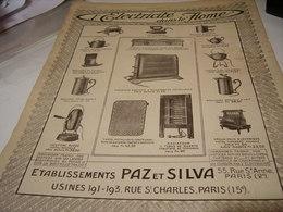 ANCIENNE PUBLICITE ETABLISSEMENT   PAZ ET SILVA  1915 - Publicidad