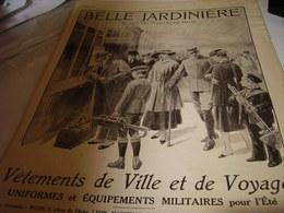 ANCIENNE PUBLICITE LE MAGASIN BELLE JARDINIERE UNIFORME MILITAIRE ETE  1915 - 1914-18
