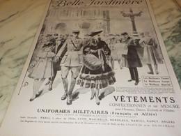 ANCIENNE PUBLICITE BELLE JARDINIERE UNIFORMES 1916 - Publicidad
