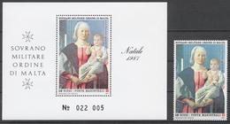 SMOM 1987 Sas# 279+ Bl.23** CHRISTMAS - Malte (Ordre De)