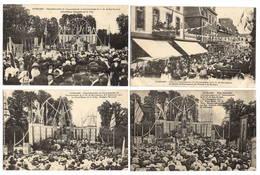 22 COTES D'ARMOR - GUINGAMP Grandes Fêtes Du Cinquantenaire...(4 Cartes) Collection Tirel-Hamon - Guingamp