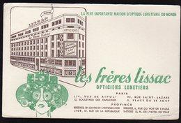 Oct18      82556     BUVARD   Les Frères Lissac   Opticiens   Bordeaux, Toulouse, Lyon , St étienne - Buvards, Protège-cahiers Illustrés