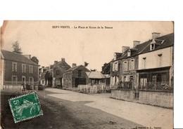SEPT-VENTS. - La Place Et Route De La Besace. A Circulé.  Voir Scan. - Francia
