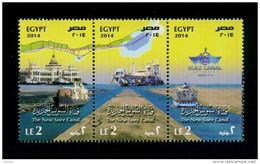 EGYPT / 2014 / THE NEW SUEZ CANAL / SHIPS / MNH / VF - Egypt
