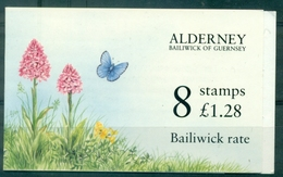 AURIGNY Carnet N° 75a Papillon & Fleurs N Xx TB - Alderney