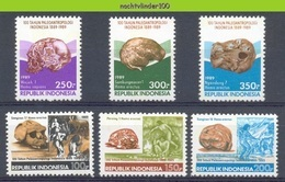 Mgm1383 PALAEOANTROPOLOGIE SCHEDELS SKULLS ANTHROPOLOGY INDONESIA 1989 PF/MNH - Archeologie