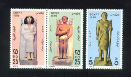 EGYPT / 1989 / POST DAY / PRINCESS NOFRET / PRINCE RAHOTEB / SHEIKH EL BALAD / MNH / VF - Egypt