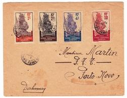 Lettre Loango 1917 Poste Afrique Equatoriale Gabon Porto Novo Cotonou Dahomey Bénin - Gabon (1886-1936)