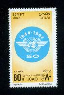 EGYPT / 1994 / AIRMAIL / ICAO / INTL CIVIL AVIATION AGREEMENT ; CHICAGO / GLOBE / MNH / VF - Egypt