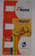 MONGOLIA USED SIM CARD - 1 (WITHOUT CHIP) 3 Pc. - Mongolia