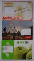 MONGOLIA USED SIM CARD - 2 (WITHOUT CHIP) 3 Pc. - Mongolia