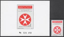 SMOM 1988 Sas# 280+ Bl.24** FRA 'GIANCARLO PALLAVICINI, TEMPORARY GRAND MASTERSHIP - Malte (Ordre De)