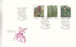 Aland - Fleurs - Lettre FDC De 1989 - Oblit Marieham - Valeur 12 Euros - Aland