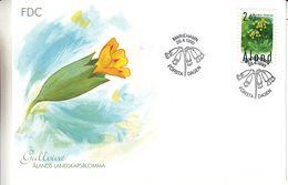 Aland - Fleurs - Lettre FDC De 1999 - Oblit Marieham - Timbres Du Carnet - - Aland