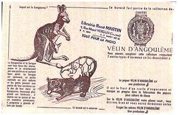 Pa V A/Buvard Vélin D Angoulême  (8) (N=5) Coin Haut Droit Légèrement Abimé - Stationeries (flat Articles)