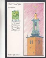 Aland - Fleurs - Carte Postale De 1999 - Oblit Stockholm - Journée Du Timbre - Aland