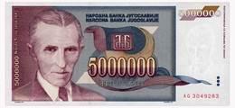 YUGOSLAVIA 5 MIO DINARA 1993 Pick 121 Unc - Yugoslavia