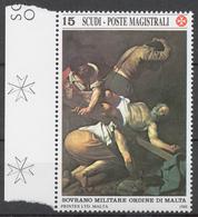 SMOM 1988 Sas# 282** CRUCIFIXION OF SAINT PETER BY CARAVAGGIO - Malte (Ordre De)