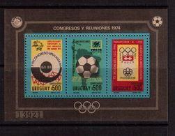 Uruguay-1974,(Mi.Bl.21),  Football, Soccer, Fussball,calcio,MNH - Coppa Del Mondo