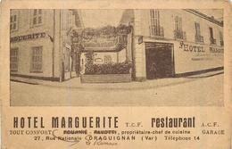 83 DRAGUIGNAN  Hôtel Marguerite  Restaurant    2scans - Draguignan