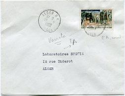 ALGERIE LETTRE AVEC VARIETE DE SURCHARGE EA DEPART ALGER 17-?-1962 ALGER POUR L'ALGERIE - Algérie (1962-...)