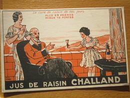 Jus De Raisin Challand Publicité Format Carte Postale Recto Non Separé  18_13 - Nuits Saint Georges